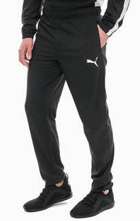 Черные брюки джоггеры с принтом Puma