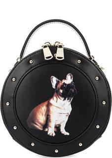 Маленькая кожаная сумка с принтом Fiato Dream