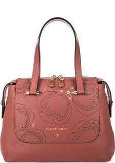 Кожаная сумка с декоративной отделкой Fiato Dream