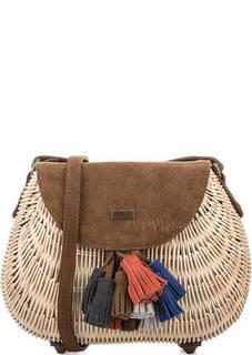 Маленькая сумка с замшевым откидным клапаном Pepe Jeans