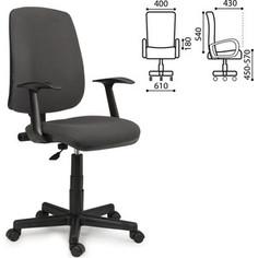 Кресло оператора Brabix Basic MG-310 с подлокотниками серое KB-40 531412