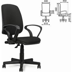 Кресло оператора Brabix Basic MG-310 с подлокотниками черное JP-15-2 531409