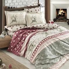 Комплект постельного белья Hobby home collection Семейный, поплин Ludovica бордовый (1501001603)
