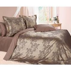 Комплект постельного белья Ecotex Евро, сатин-жаккард, Флокатти (КЭЕФлокатти)