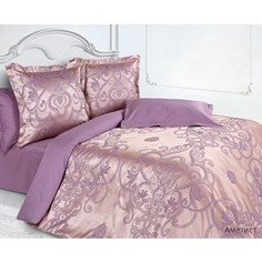 Комплект постельного белья Ecotex Евро, сатин-жаккард, Аметист (КЭМчАметист)