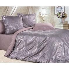 Комплект постельного белья Ecotex Семейный, сатин-жаккард, Виктория (КЭДчВиктория)
