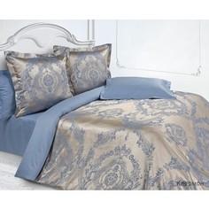 Комплект постельного белья Ecotex Семейный, сатин-жаккард, Клермон (КЭДчКлермон)