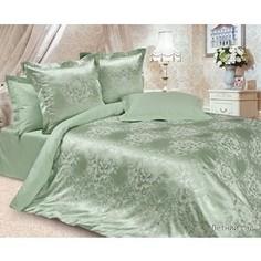 Комплект постельного белья Ecotex Семейный, сатин-жаккард, Летний сад (КЭДчЛетний сад)
