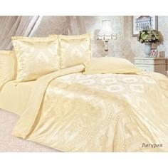 Комплект постельного белья Ecotex Евро, сатин-жаккард, Лигурия (КЭЕчЛигурия)
