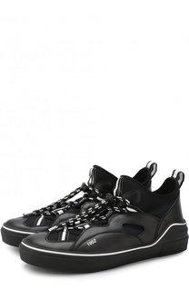 Комбинированные кеды на шнуровке Givenchy