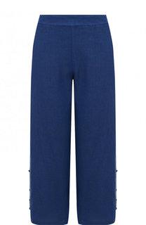Однотонные льняные брюки с карманами 120% Lino