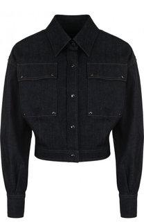 Укороченная джинсовая куртка с отложным воротником Tom Ford
