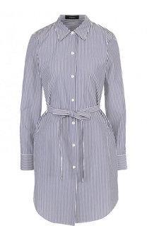 Хлопковое платье-рубашка в полоску Theory
