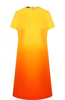 Мини-платье свободного кроя с эффектом деграде Escada