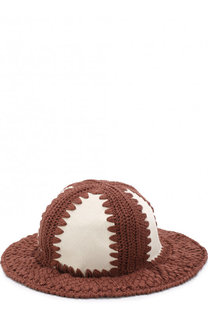 Шляпа с отделкой из меха теленка Loewe