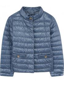 Пуховая куртка с воротником-стойкой Herno