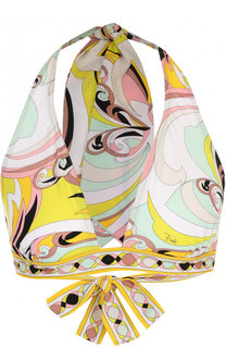 Треугольный бра с ярким принтом Emilio Pucci