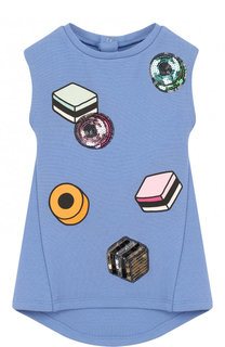Платье с принтом и отделкой пайетками Marc Jacobs