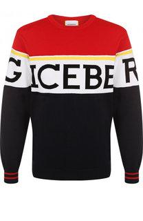 Хлопковый джемпер с логотипом бренда Iceberg