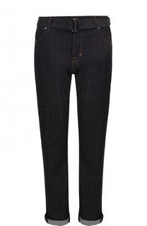 Укороченные джинсы прямого кроя с отворотами Tom Ford