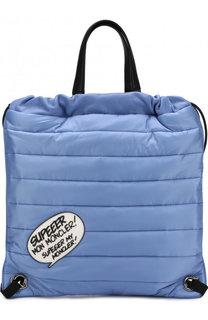 Рюкзак из текстиля с аппликацией Moncler