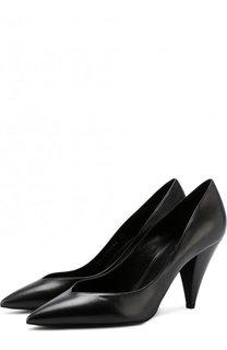 Кожаные туфли Era на фигурном каблуке Saint Laurent