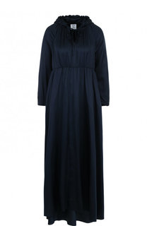 Однотонное шелковое платье-макси с капюшоном Vetements
