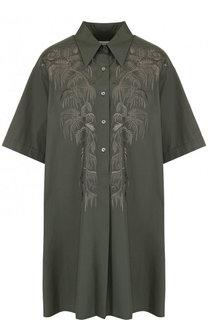 Хлопковое платье-рубашка свободного кроя Dries Van Noten