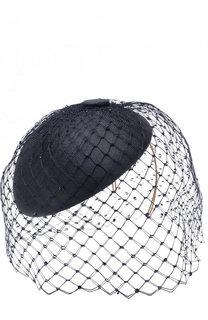Соломенная шляпа с декоративной сеточкой Philip Treacy