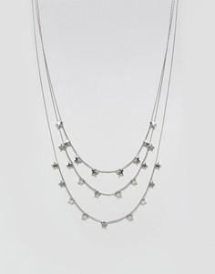 Многорядное ожерелье Nylon - Серебряный