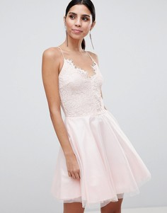 Кружевное платье с ремешками Ax Paris - Розовый