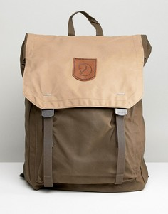 Рюкзак цвета хаки Fjallraven Foldsack No.1 16 л - Зеленый