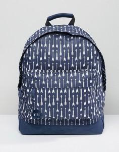 Рюкзак с принтом стрел Mi-Pac - Темно-синий
