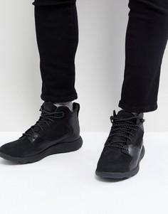 Высокие кожаные кроссовки Timberland Flyroam - Черный