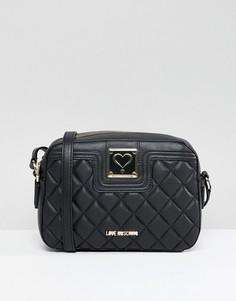 Стеганая сумка через плечо Love Moschino - Черный