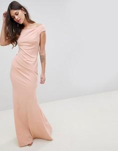 Платье макси с годе и плиссировкой City Goddess - Розовый