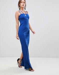 Платье макси для выпускного с ремешками Coast Zoe - Синий