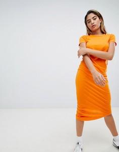 Асимметричное трикотажное платье Noisy May - Оранжевый
