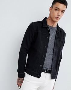 Черная джинсовая куртка AllSaints - Черный