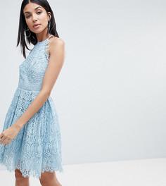 Кружевное платье мини для выпускного ASOS DESIGN Tall - Розовый