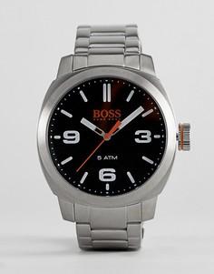 Часы с черным циферблатом BOSS Orange By Hugo Boss Cape Town - Серебряный