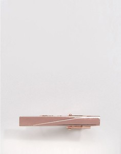 Зажим для галстука цвета розового золота Moss London - Медный