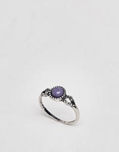 Кольцо с искусственным камнем ASOS DESIGN - Серебряный