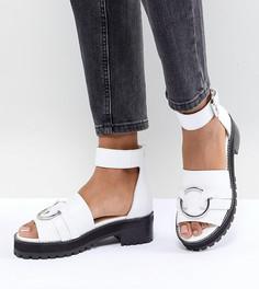 Кожаные сандалии-гладиаторы ASOS DESIGN - Белый