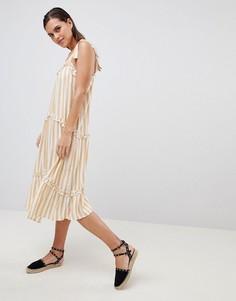 Платье в полоску с завязками на бретелях Y.A.S - Мульти