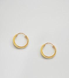 Крупные позолоченные серьги-кольца Kingsley Ryan - Золотой