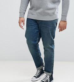 Темные джинсы слим ASOS PLUS - Синий