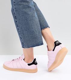 Женские розовые кроссовки на резиновой подошве adidas Originals Stan Smith - Розовый