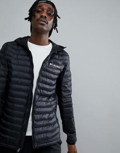 Черная легкая дутая куртка с капюшоном Columbia Powder Lite - Черный