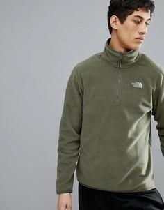 Зеленый флисовый свитер с молнией The North Face 100 Glacier - Зеленый